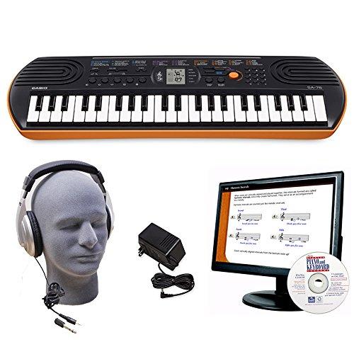 Casio SA-76 44-Key Keyboard, EDP Pack, with AC Adapter, Head