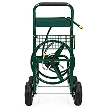 Best Choice Products Water Hose Reel Cart 300 FT Outdoor Garden Heavy Duty Yard Water Planting New