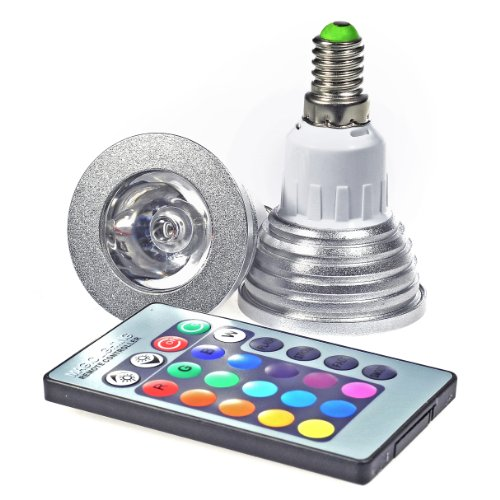 Miniwatts E14 3W Rgb Colour Changing Led Spotlight Bulb