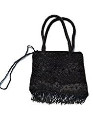 Raun Harman Embroidered Black Tote Bag
