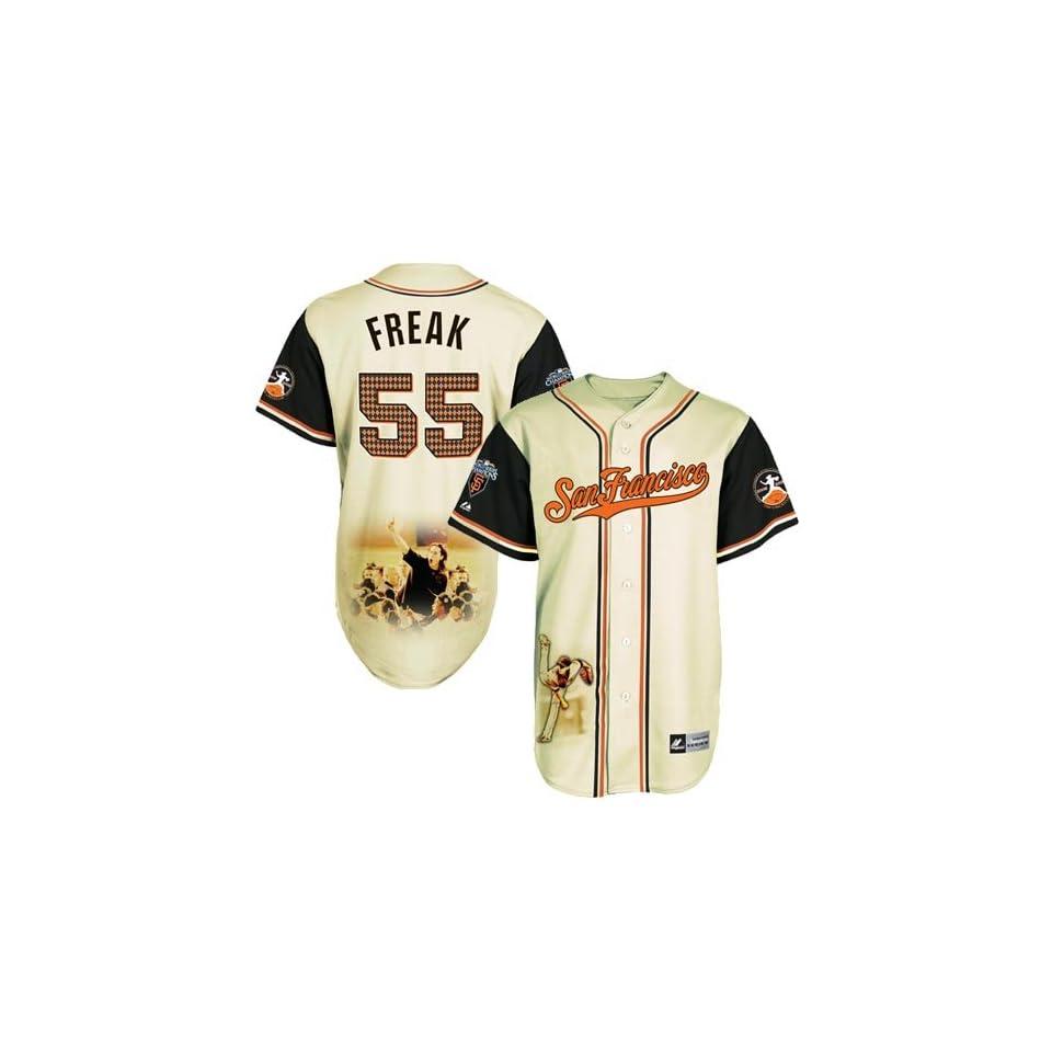 MLB Mens San Francisco Giants Tim Lincecum Signature Series Jersey (Ivory/Black, X Large)