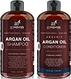 Art Naturals Organic Moroccan Argan Oil Shampoo and Conditioner Set (2 x 16 Oz) - Sulfate Free - Volumizing & Moisturizing, Gentle on Curly & Color Treated Hair, For Men & Women - Infused with Keratin