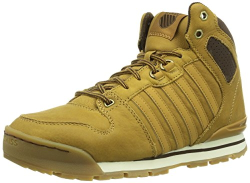 K-Swiss SI-18 PREMIER HIKER, Sneaker a collo alto Uomo, Marrone (BONEBROWN/ESPRESSO/203), 43