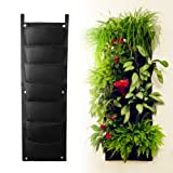 8-pocket Vertical Garden Planter, Top Quality ECO-friendly recycled materials, Waterproof for mess-free Indoor & Outdoor use, Premium Strong & Durable Felt for Excellent Irrigation, Easy to Hang & Fill. The Best Urban Garden for Your Plants to Grow & Thrive in - Replacement Guarantee.