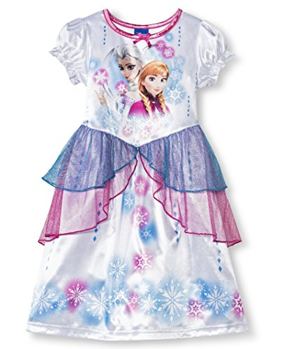 Frozen Toddler Girls' Elsa And Anna Nightgown (5T)