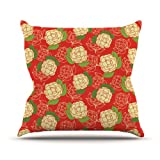 """Kess InHouse Holly Helgeson """"Cammelia"""" Red Yellow Outdoor Throw Pillow, 26 by 26-Inch at Sears.com"""