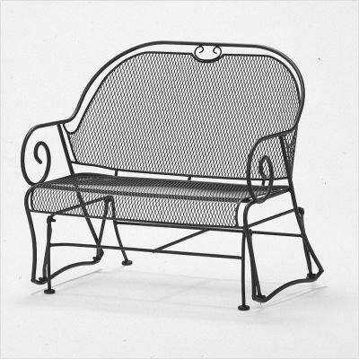 Buy Low Price Woodard Cantebury Gliding Barrel Loveseat Cushion Fabric: Batik – Henna (7LW079+-80S)