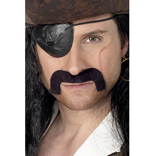Pirate Mustache Black Accessory - 1