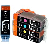 5x HP 364XL FCI Compatible Printer Ink Cartridges - NEW SHOWS INK LEVELS - To Replace HP364 (Contains: 1x Large Black,1x Cyan, 1x Magenta, 1x Yellow, 1x Photo Black) High capacity inkjet inks