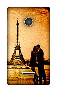 The Racoon Lean Couple at Effiel Tower (Love) hard plastic printed back case / cover for Microsoft Lumia 532