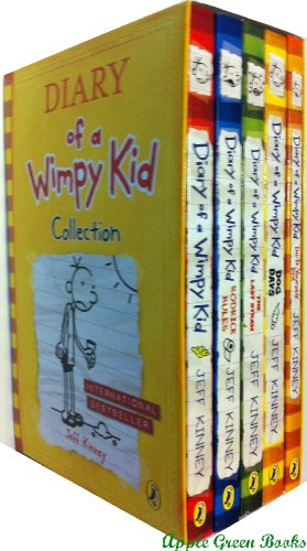Diary of a Wimpy Kid series: 5 books: box set (Diary of a Wimpy Kid / Rodrick Rules / The Last Straw / Dog Days /Do It Yourself book £33.95)