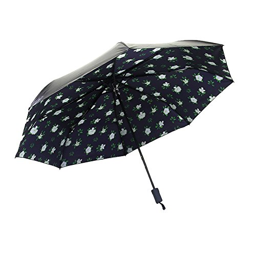white-cute-blooming-flower-print-uv-protective-umbrella-upf-40-sun-travel-folding-umbrella