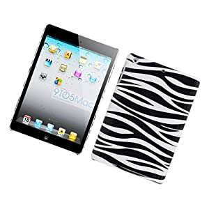 Eagle Cell PIIPADMINIG128 Stylish Hard Snap-On Protective Case for iPad mini - Retail Packaging - Zebra Black/White by Eagle Cell