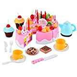 Arshiner Laugh & Learn Say Please Magical Tea Set Magical Rainbow Cake,54 pcs