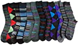 12 Pair Mens Executive Series Dress Sock - Mixed Stripes & Argyles