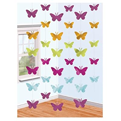 Childrens Butterfly String Party Decoration, 6 x 2 metre Strings