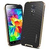 Stycoon Spigen Neo Hybrid Back Case For Samsung Galaxy S 5 - Champange & Black