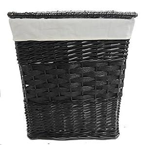 Black Wicker Laundry Basket Bathroom Storage M Lxwxh