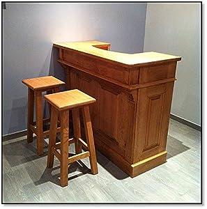 meuble comptoir bar en pin massif naturel 1m20 range verres cuisine maison. Black Bedroom Furniture Sets. Home Design Ideas