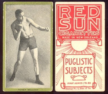 1910 T226 Red Sun regular (Boxing) Card# 39 honey mellody VGX Condition
