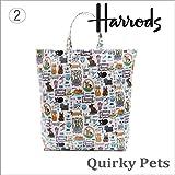(ハロッズ) Harrods 正規品 トートバッグ ショッピングバッグ Harrods Medium Bucket bag 2.Quirky Pets