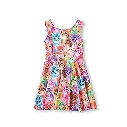 Jinye Little Girl's Classical Printed Sleeveless Summer Dress