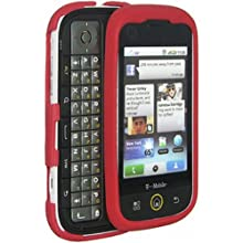 Amzer 85639 Hybrid Silicone Skinelly Case - Maroon Red For Motorola Dext MB200