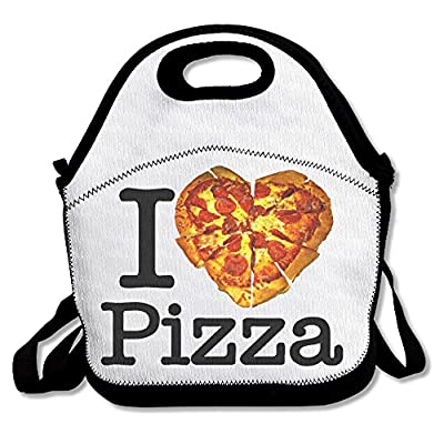 ScutLunb Lunch Bag I Love Pizza Lunch Tote Lunch Box For Women Men Kids With Adjustable Strap