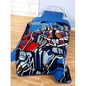 Childrens/Kids Transformers Printed Fleece Blanket