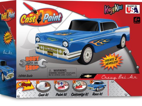 Skullduggery Cast And Paint Krazy Kars 57 Chevy With Blopens
