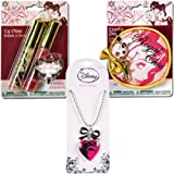 Disney Princess Jewelry & Lip Gloss Gift Set - Princess Locket, Royal Chic Small Cinderella Pouch & Lip Gloss Set