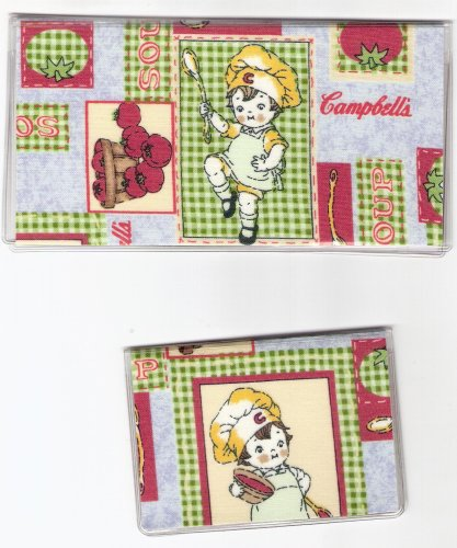 Checkbook Cover Debit Set Made with Campbell's Soup Kids Fabric