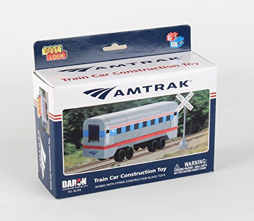 Daron Worldwide BL052 Trading Amtrak Train Car (136 Piece) (Build A Train Kit compare prices)