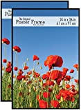 MCS 65594 Original Poster Frame, 24 by 36-Inch, Black, 2-Pack