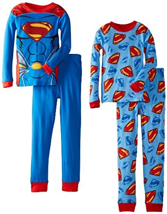 Superman Big Boys' Cotton Sleepwear Set of 2, Assorted, 8