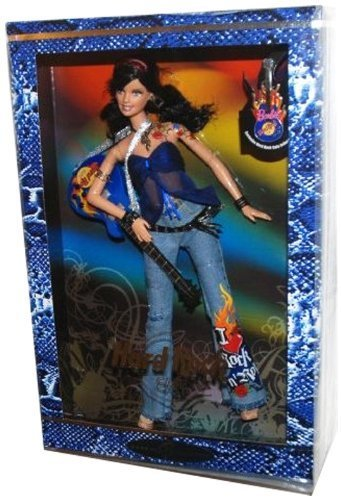 2005 Barbie Collector Silver Label, Hard Rock Barbie Doll with Guitar and Exclusive HRC Collector Pin! (1 Each) Retired, #3 in the Hard Rock Cafe Barbie Doll Collection. by Mattel