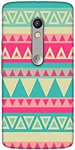 Snoogg Aztec Pink Designer Protective Back Case Cover For Motorola Moto X Play