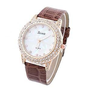 Amazon.com: Women Watches Gold Case Relojes de marca Quartz Watch