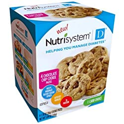 Nutrisystem D Chocolate Chip Cookie Packs 4 X 1.26