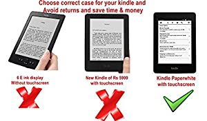 Ultra Slim flip case cover Amazon Kindle Paperwhite paper white Tablet (Magnetic Lock) (Auto Sleep/Wake up) (Dark Blue)