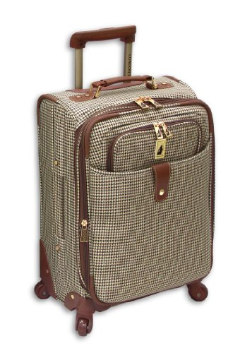London Fog Chelsea 21 Inch 360 Expandable Upright Suiter, Olive Plaid, One Size best price