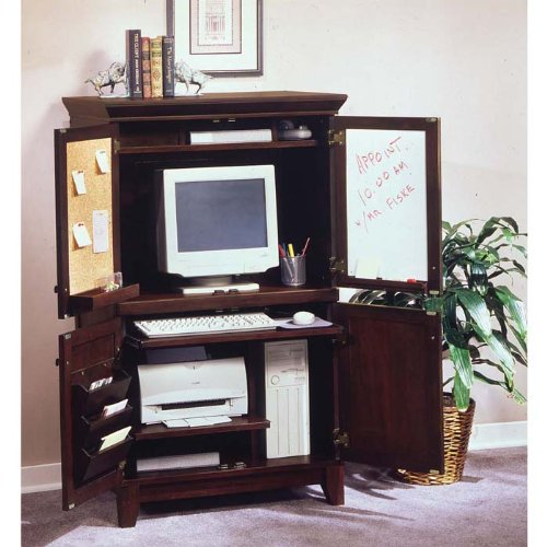 Buy Low Price Comfortable Coffee Finish Computer Armoire (B002PNDMPK)