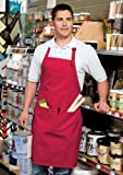 Cornerstone Adjustable Bib Apron with 3 Pockets