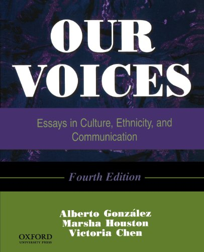 our voices essays in culture Our voices, fourth edition, examines communication in a variety of cultural and personal settings, with each contributor writing from the perspective of his or her.