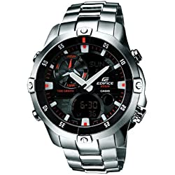 "Casio Men's EMA100D-1A1 ""Edifice"" Stainless Steel Multi-function Watch"