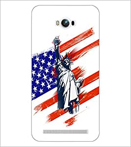 PrintDhaba Statue Of Liberty D-5954 Back Case Cover for ASUS ZENFONE MAX ZC550KL (Multi-Coloured)