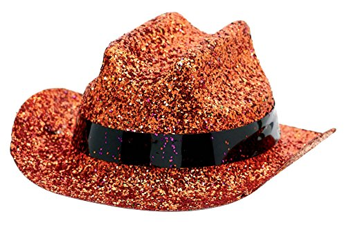 Orange Mini Glitter Hat
