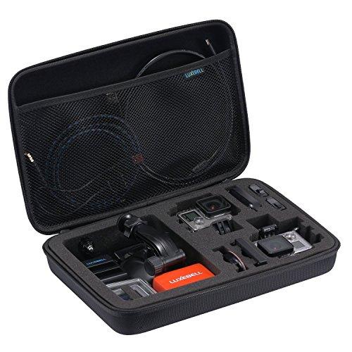 Luxebell® Portatile Valigetta Morbida Protettivo Custodia Borsa Caso Per Fotocamere GoPro Hero 2 3 3 + 4 Accessori