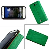 i KitPit   PU Leather Flip Case Cover For Karbonn A50 (GREEN) available at Amazon for Rs.379