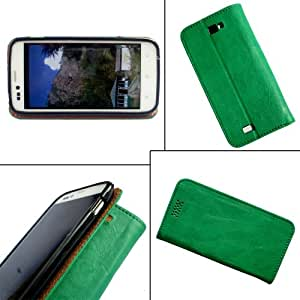 i-KitPit - PU Leather Flip Case Cover For Google Nexus 4 (GREEN)